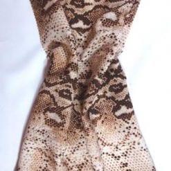 Viscose Fabric Crocodile Wrap nude