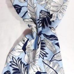 Viscose Crinkle Fabric Rio Leaf blue