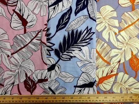 Viscose Crinkle Fabric Rio Leaf