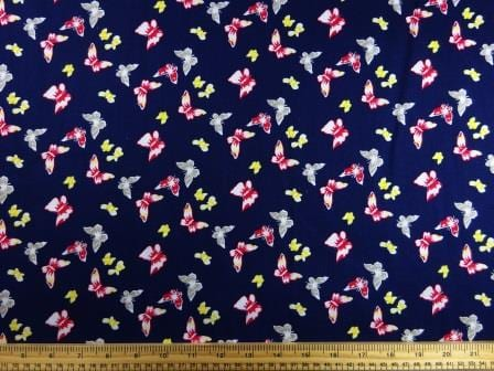 Cotton Print Fabric Butterfly Romance navy