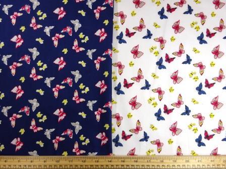 Cotton Print Fabric Butterfly Romance