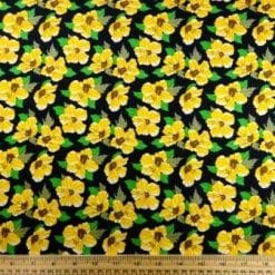 Cotton Print Fabric Sunshine Flower