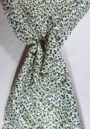 Cotton Print Fabric Sweet Alice Flowers turquoise