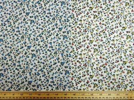 Cotton Print Fabric Sweet Alice Flowers