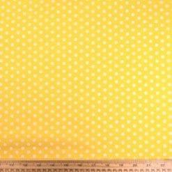 Cotton Print Fabric Percy Pea Spot yellow