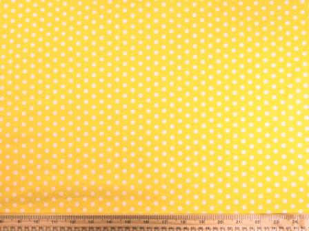 Cotton Print Fabric Percy Pea Spot yellow