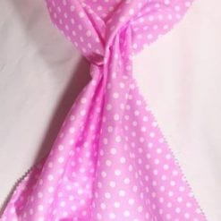Cotton Print Fabric Percy Pea Spot pink