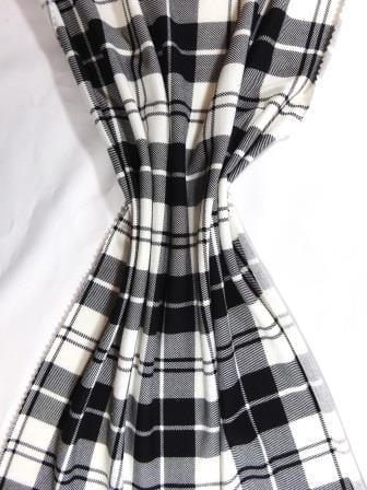 T-Shirting Fabric Mc Ryan Tartan black/white