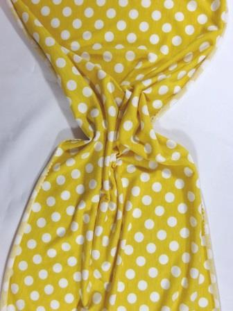 T-Shirting Fabric Hotty Spotty gold