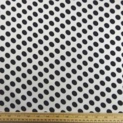 T-Shirting Fabric Hotty Spotty black/white