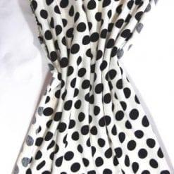 T-Shirting Fabric Hotty Spotty black/white