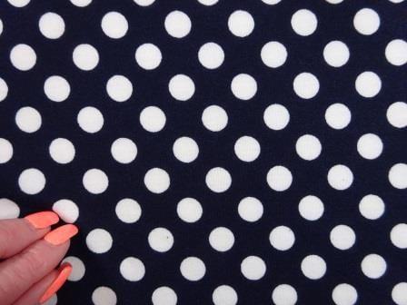 T-Shirting Fabric Hotty Spotty navy/white