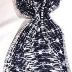 T-Shirting Fabric Radio Waves Navy