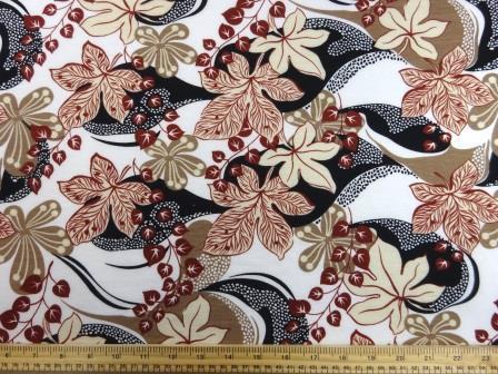 T-Shirting Fabric Nadia Garden cream
