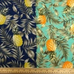 T-Shirting Fabric Fruity Pineapples
