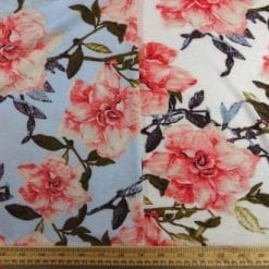 T-Shirting Fabric Trellis Rose