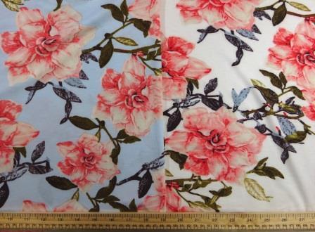 T-Shirting Fabric Trellis Rose