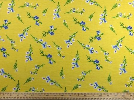 T-Shirting Fabric Wild Flowers Yellow