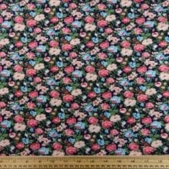 T-Shirting Fabric Mellow Flowers Navy