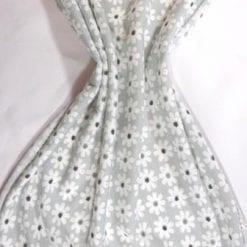 T-Shirting Fabric Gerbera Row grey