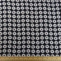 T-Shirting Fabric Gerbera Row black