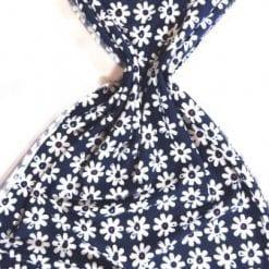 T-Shirting Fabric Gerbera Row navy