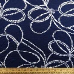 T-Shirting Fabric Rope Twist Blue