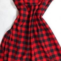 T-Shirting Fabric Hill Billie Checks red
