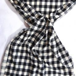 T-Shirting Fabric Hill Billie Checks black/ivory
