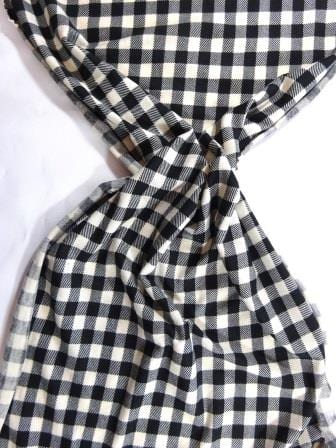 T-Shirting Fabric Hill Billie Checks black/ivory