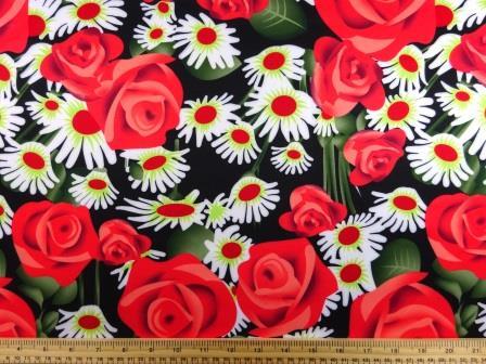 Scuba Jersey Fabric Wonderland Garden