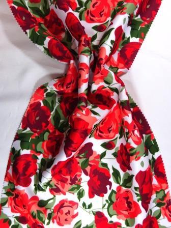 Scuba Jersey Fabric Valentine Rose