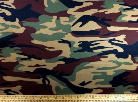 Scuba Jersey Fabric GI Joe Camouflage