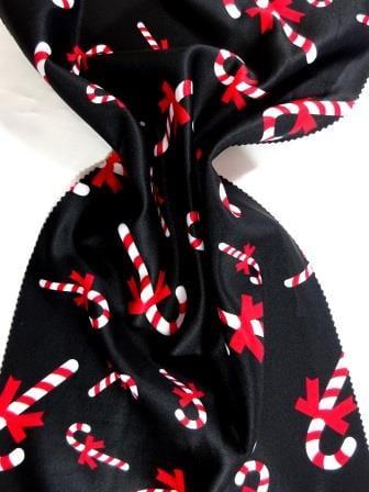 Scuba Jersey Fabric Candi Cane Parade