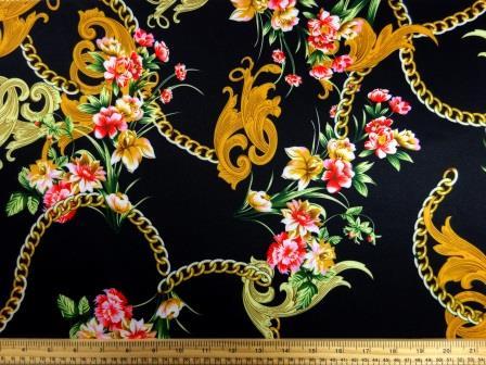 Scuba Jersey Fabric Donatella Chain