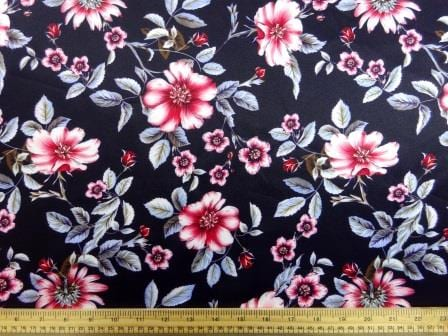 Scuba Jersey Fabric Merry Mildred Floral