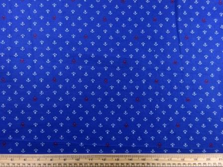 brushed cotton fabric ships anchor