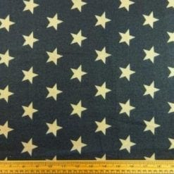 Cotton Brushed Fabric Star Command dark grey