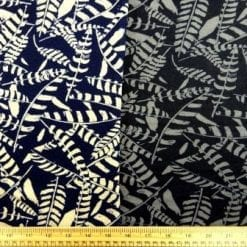Winter Jersey Fabric Zebra Leaf