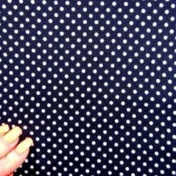 Winter Jersey Fabric Dolomite Dots navy