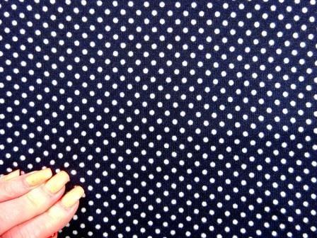 Winter Jersey Fabric Dolomite Dots navy