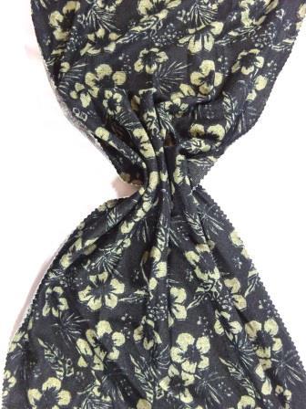 Winter Jersey Fabric Fleur Noir