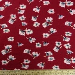 Winter Jersey Fabric Georgie Rose Ruby
