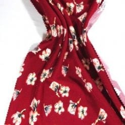 Winter Jersey Fabric Georgie Rose Ruby