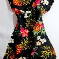 Viscose Fabric Pineapple Cocktail black