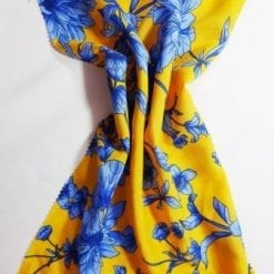 Viscose Fabric Anemone Floral yellow