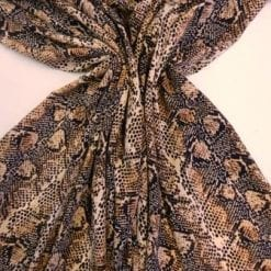 Crepe De Chine Fabric Snaky Snake