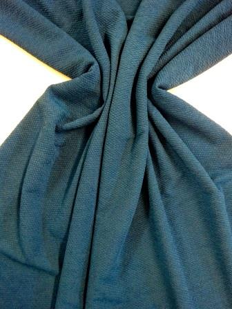 Jersey Fabric Bubble Crepe teal