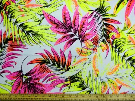 Jersey Fabric Fluorescent Leaf