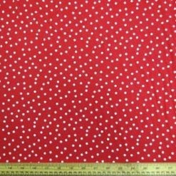 T-Shirting Fabric Red Dots Spots